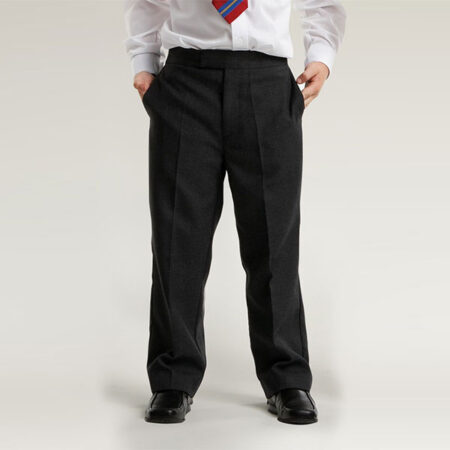Boys Black Pull-Up Trouser