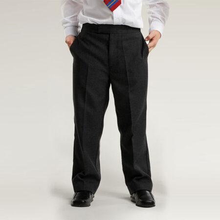 Boys Black Pull-Up Trouser