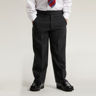 Boys Black Zip & Clip Trouser