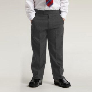 Boys Grey Zip & Clip Trouser