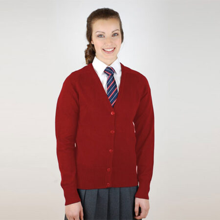 Girls Red Knited Cardigan