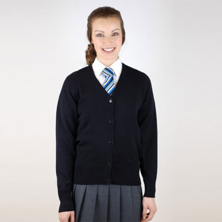 Girls Black Knited Cardigan