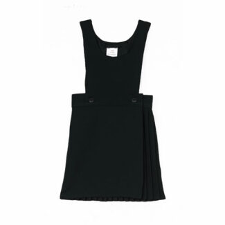 Black 2 Button Bib Pinafore