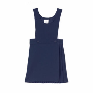 Navy 2 Button Bib Pinafore
