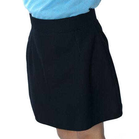 Plain Black A Line Skirt   Debonair Schoolwear
