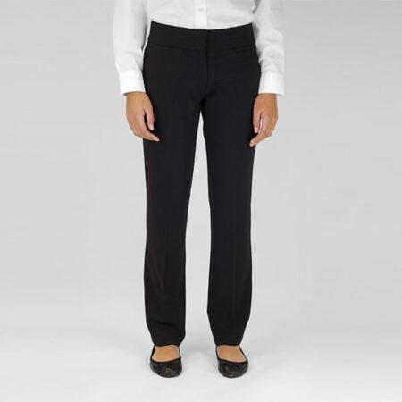 Girls Black Big Pocket Trouser