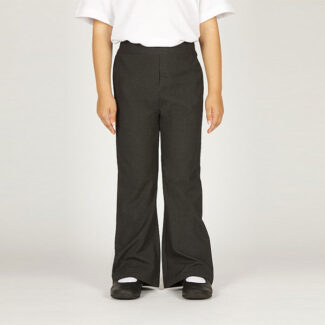 Girls Grey Pull-Up Trouser