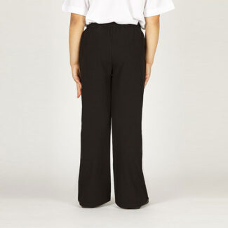 Girls Black Pull-Up Trouser