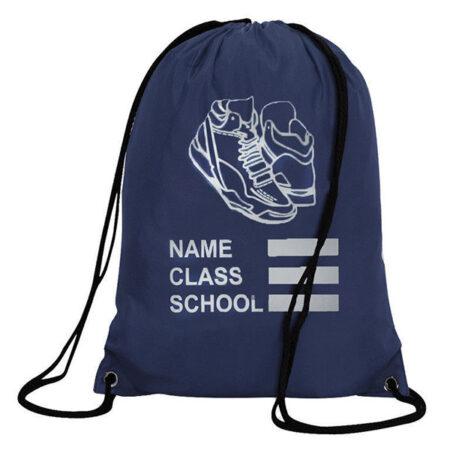 ed802212dd Navy PE Bag With Drawstring