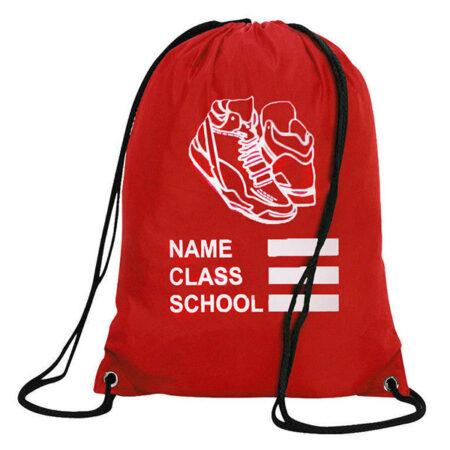 3a6c6f813e Red PE Bag With Drawstring