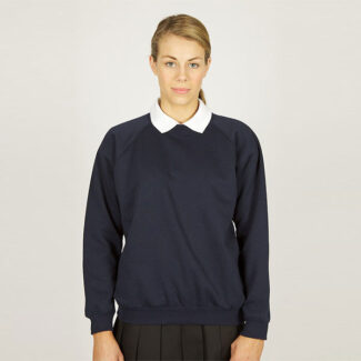 Girls Navy Sweatshirt