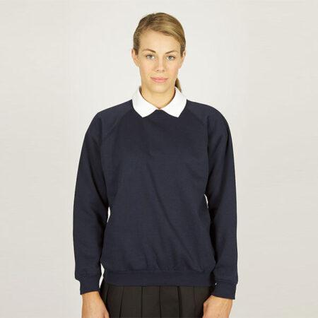 Girls Navy Sweatshirt