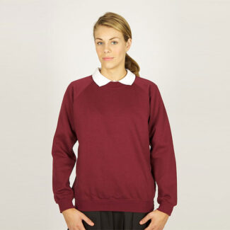 Girls Dark Maroon Sweatshirt