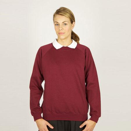 Girls Dark Maroon Sweatshirt