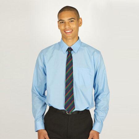 Boys Sky Blue Long Sleeved Shirt