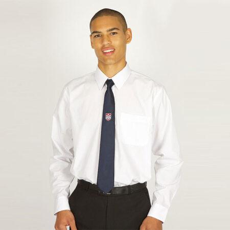 Boys White Long Sleeved Shirt