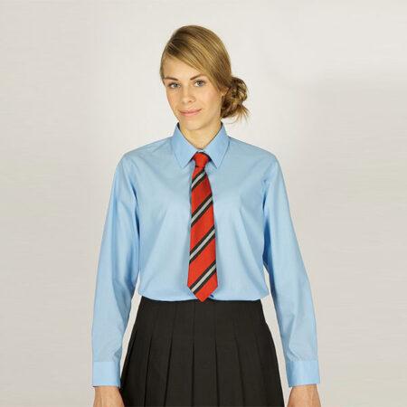 Girls Sky Blue Long Sleeved Blouses - 2 Pack