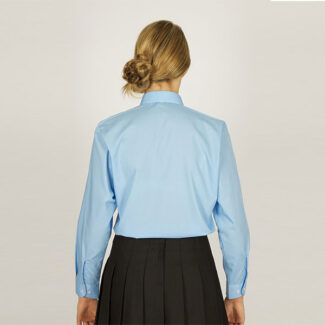 Girls Sky Blue Long Sleeved Blouse