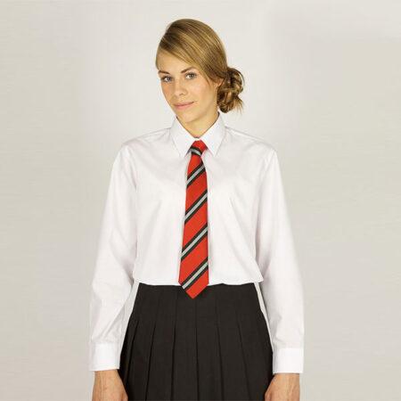 Girls White Long Sleeved Blouses - 2 Pack