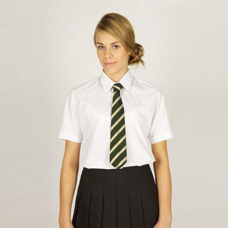 Girls White Short Sleeved Blouses - 2 Pack